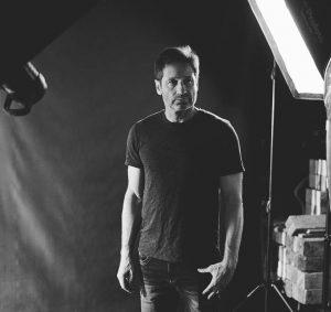 David Duchovny on Set at a Stefan Sappert portrait production