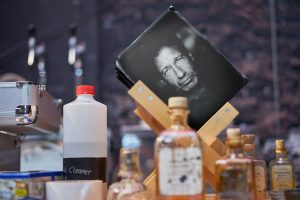 photographic plate of David Duchovny in the drying rack